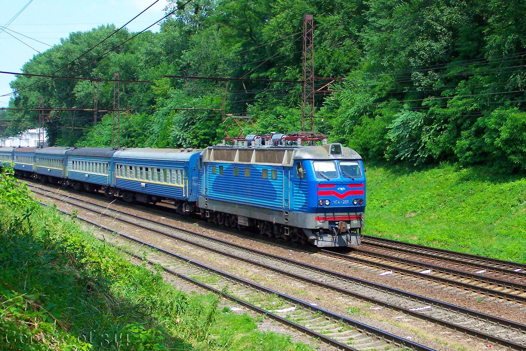 Електровоз ЧС4-201 з поїздом