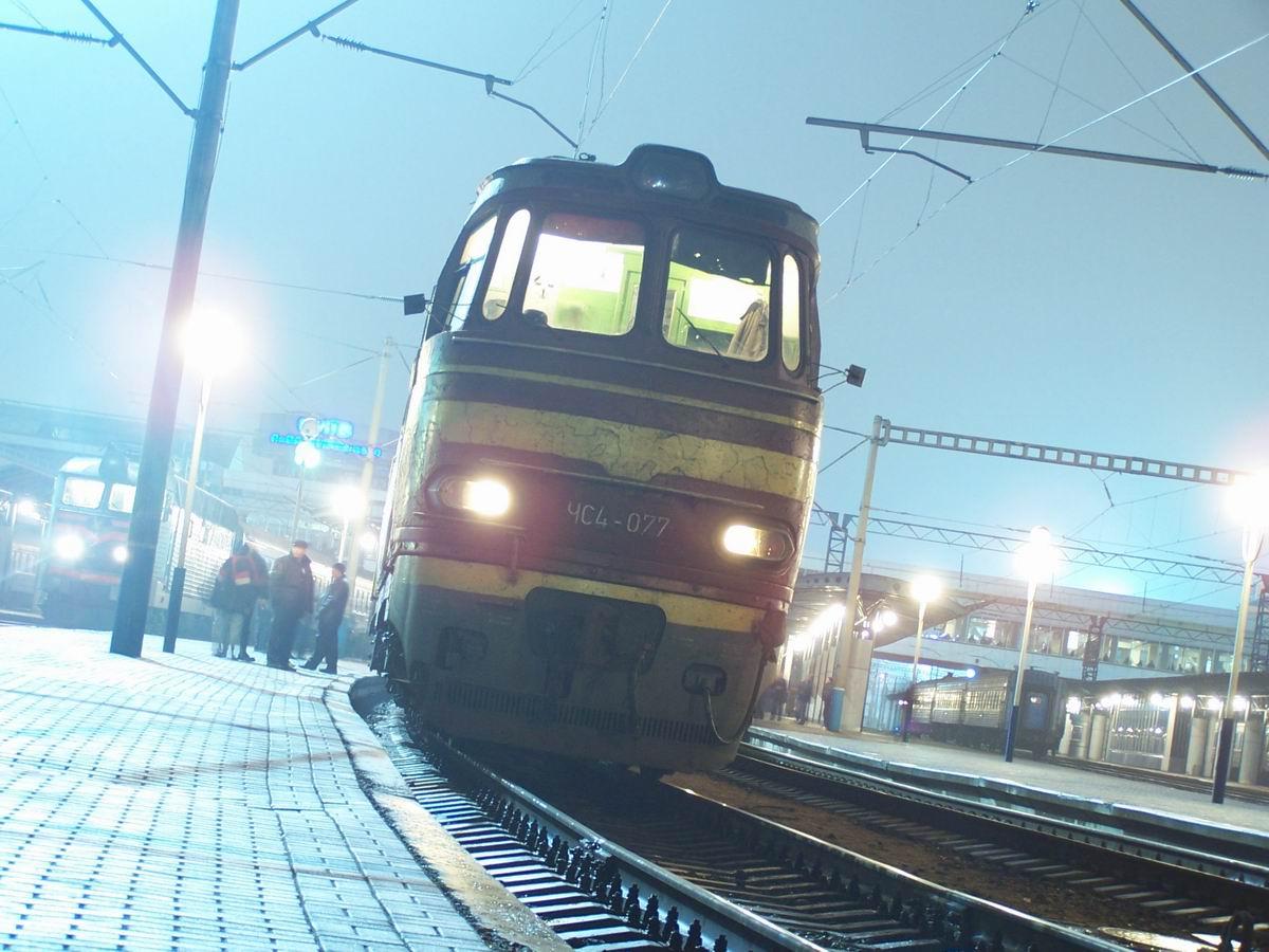 ЧС4-077 на ст. Київ-Пасажирський
