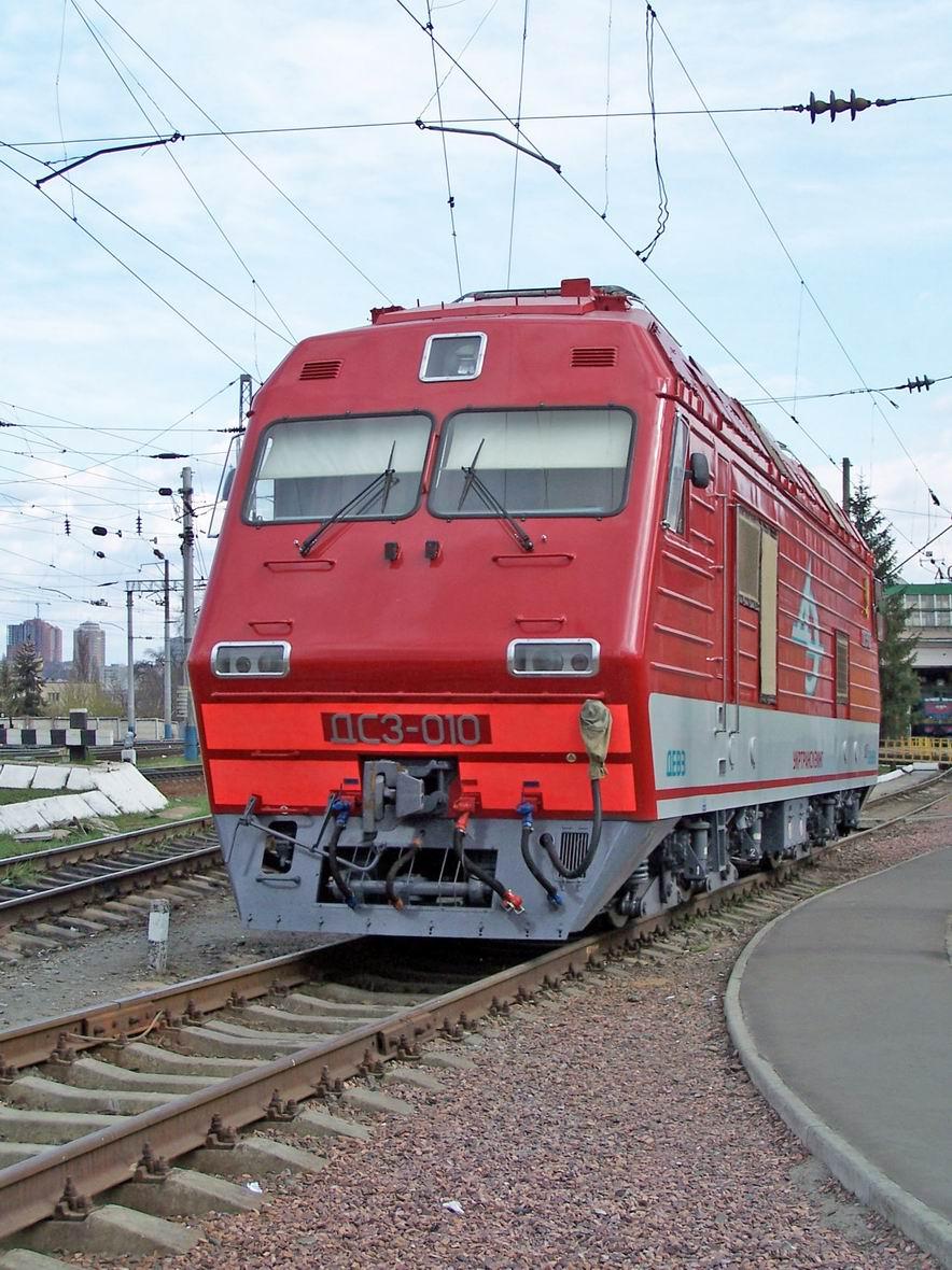 Електровоз ДС3-010, локомотивне депо Київ-Пас.