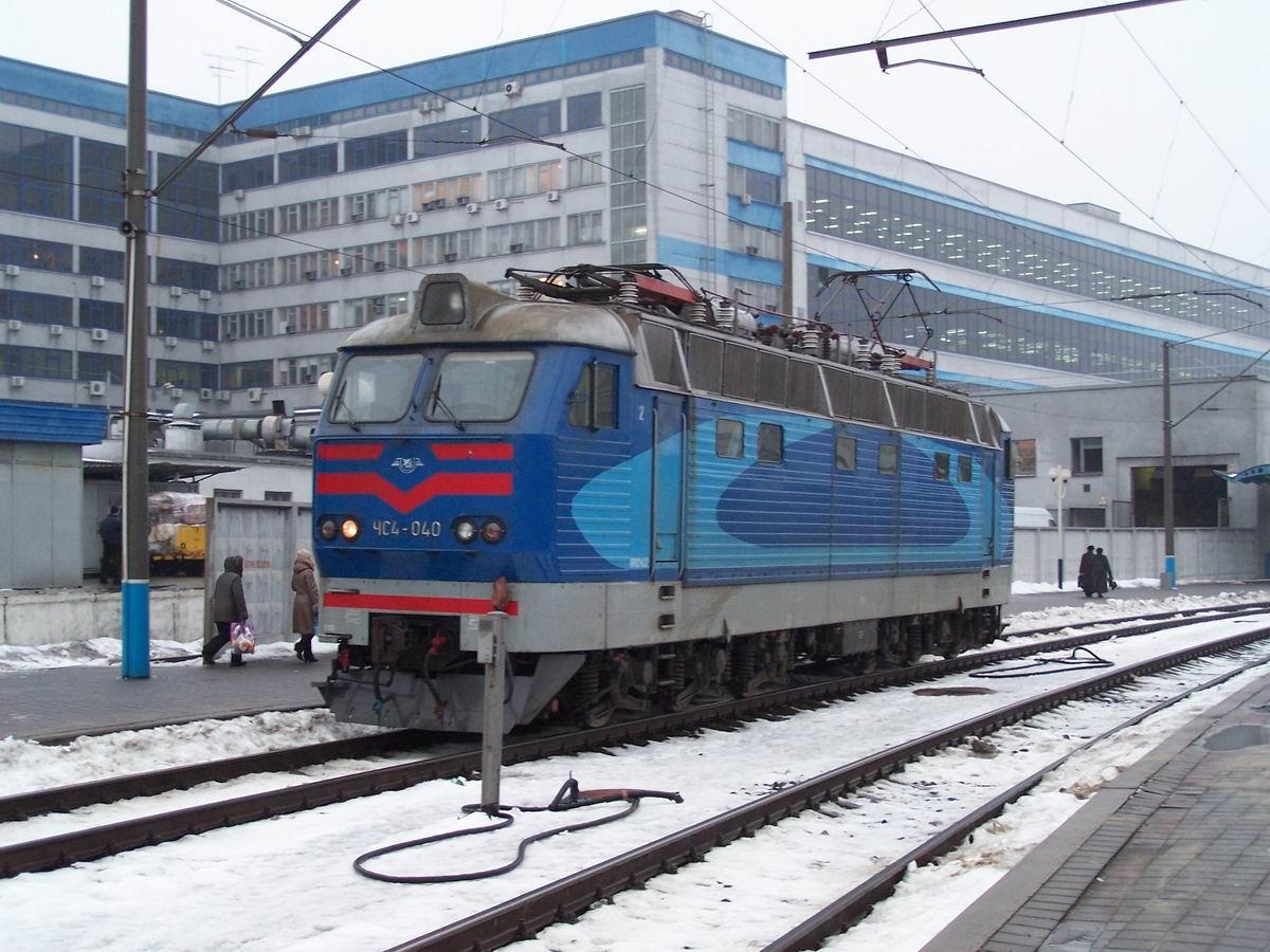 Електровоз ЧС4-040,  ст. Київ-Пасс.