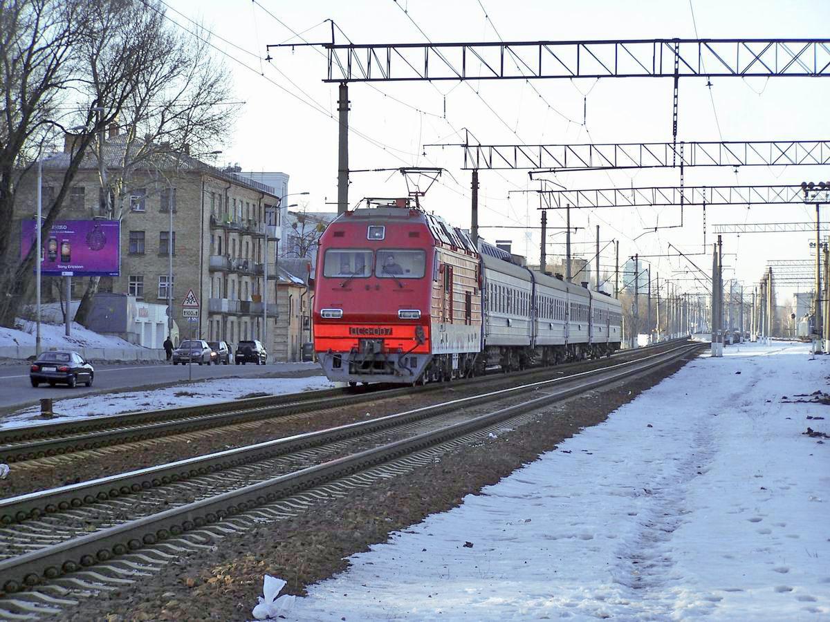 Електровоз ДС3-007, перегон Київ-Пасс. - Київ-Московський