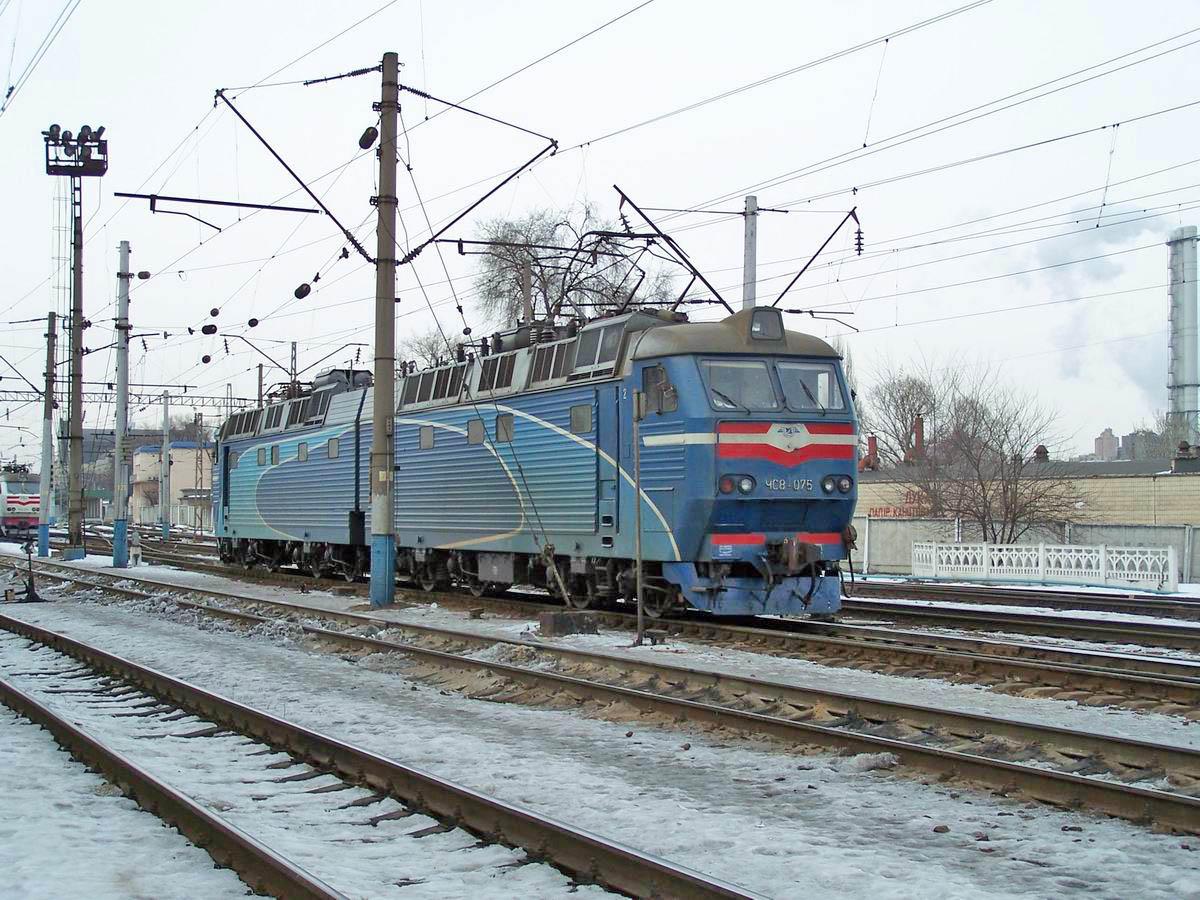 Електровоз ЧС8-075, локомотивне депо Київ-Пасс.