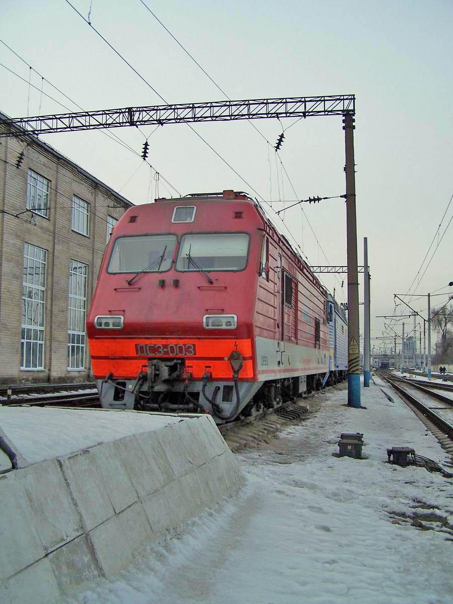 Електровоз ДС3-003, локомотивне депо Київ-Пасс.