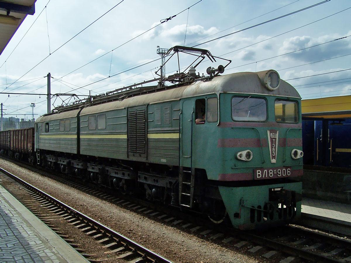 Електровоз ВЛ8М-906, ст. Сімферополь-Пас.