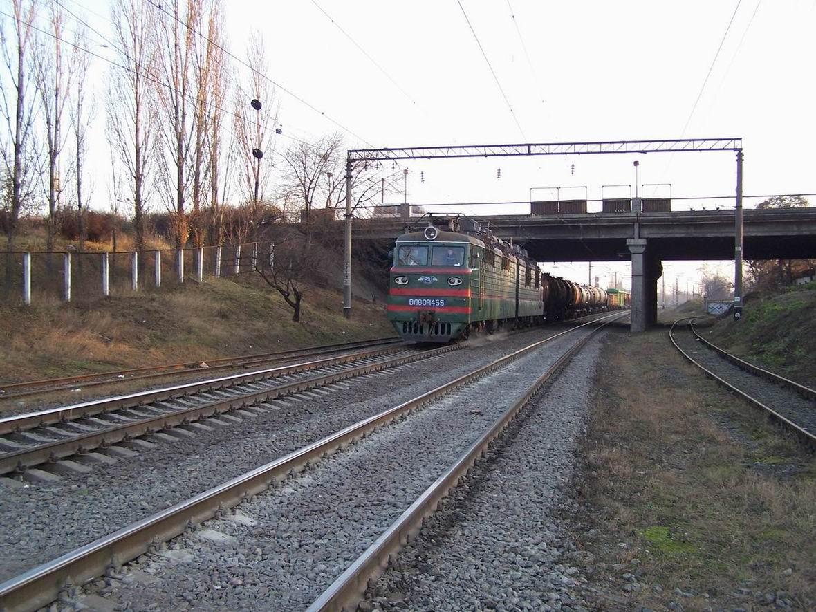 Електровоз ВЛ80Т-1455, перегон Дарниця - Київ-Дніпровський