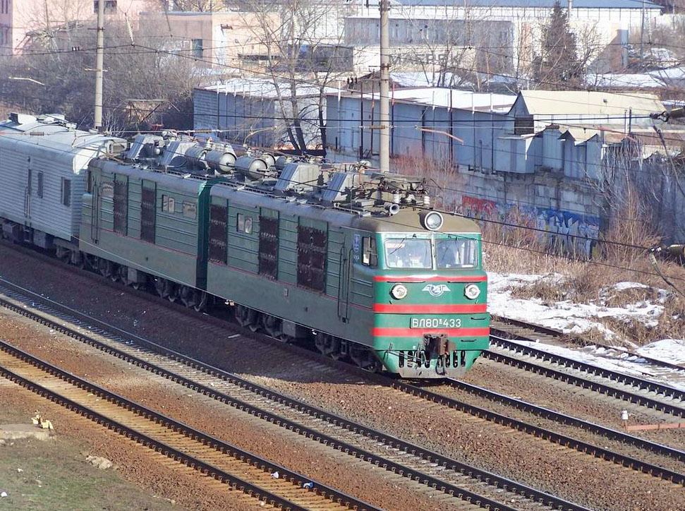 Електровоз ВЛ80К-433, перегон Київ-Товарний - Київ-Московський