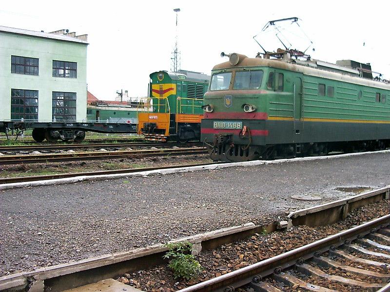 ВЛ10-1488 на ст. Мукачеве, Закарпатська обл.