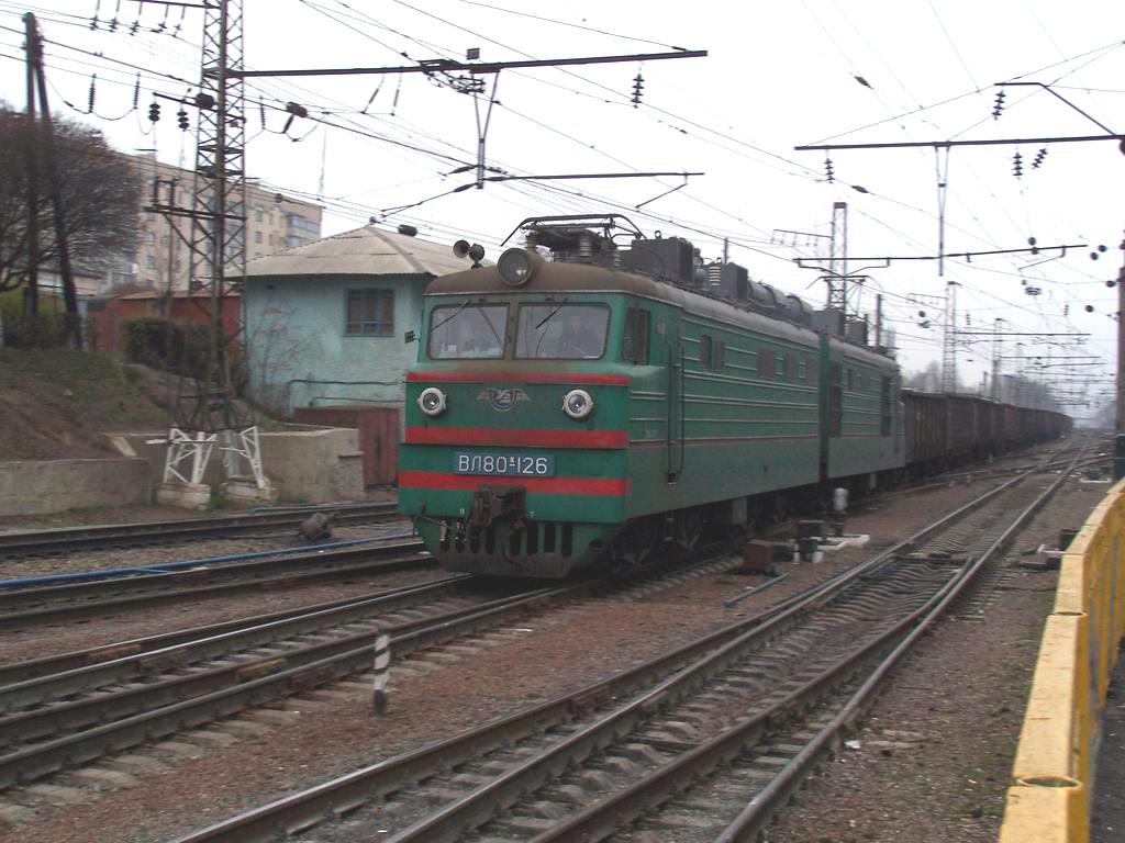 ВЛ80к-126 на ст. Київ-Волинський