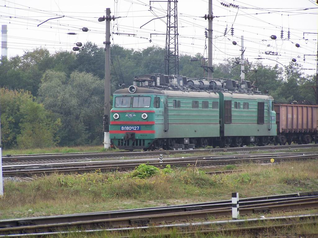 ВЛ80к-127 на ст. Дарниця, м. Київ
