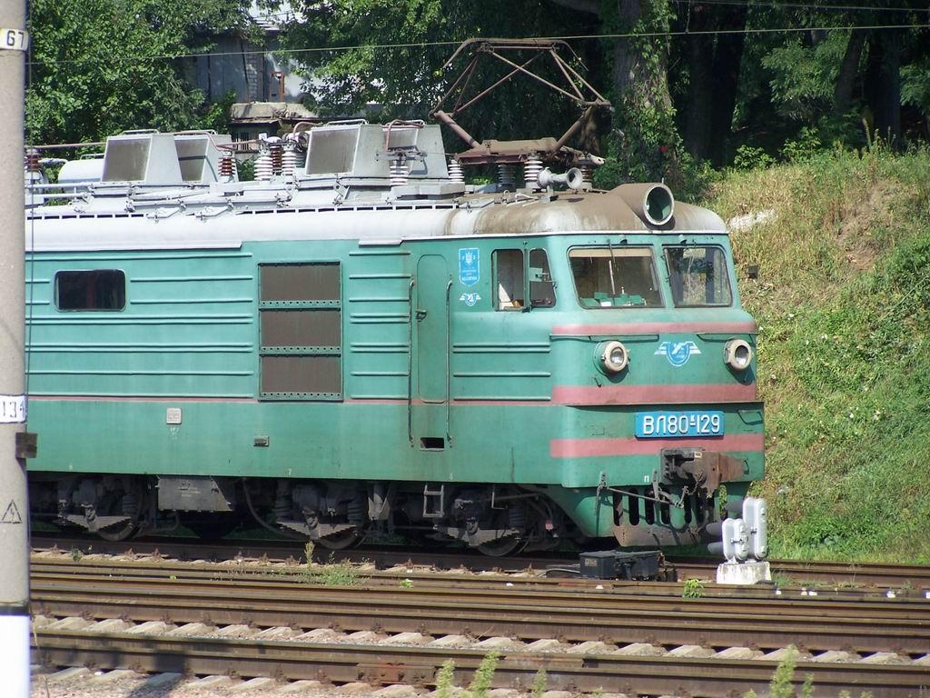 ВЛ80к-129 на ст. Київ-Московський