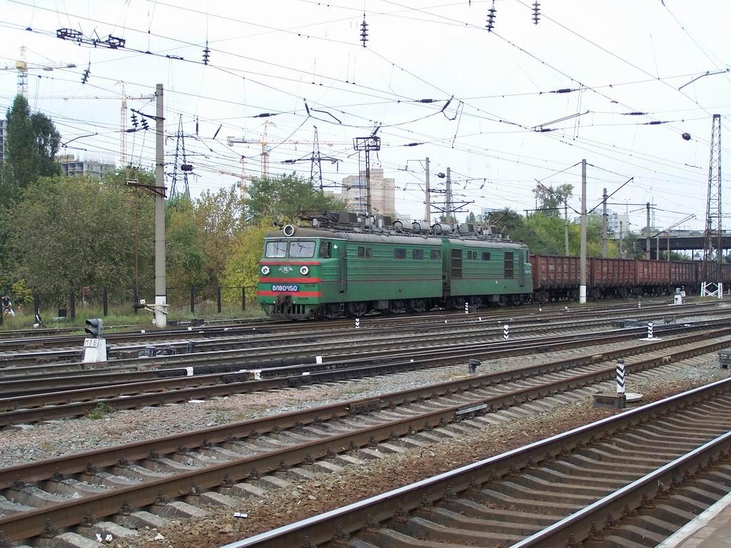 ВЛ80к-150 на ст. Дарниця