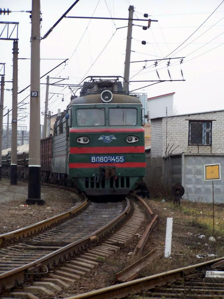 ВЛ80т-1455 на ст. Київ-Волинський
