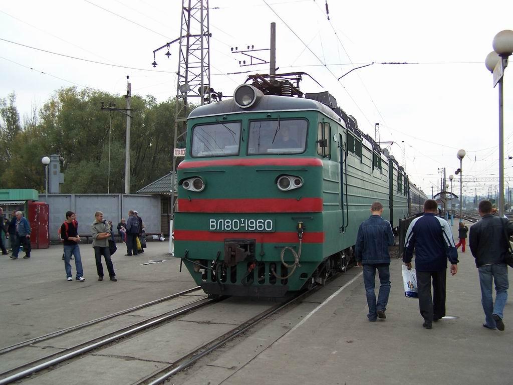 ВЛ80т-1960 на ст. Дарниця, м. Київ
