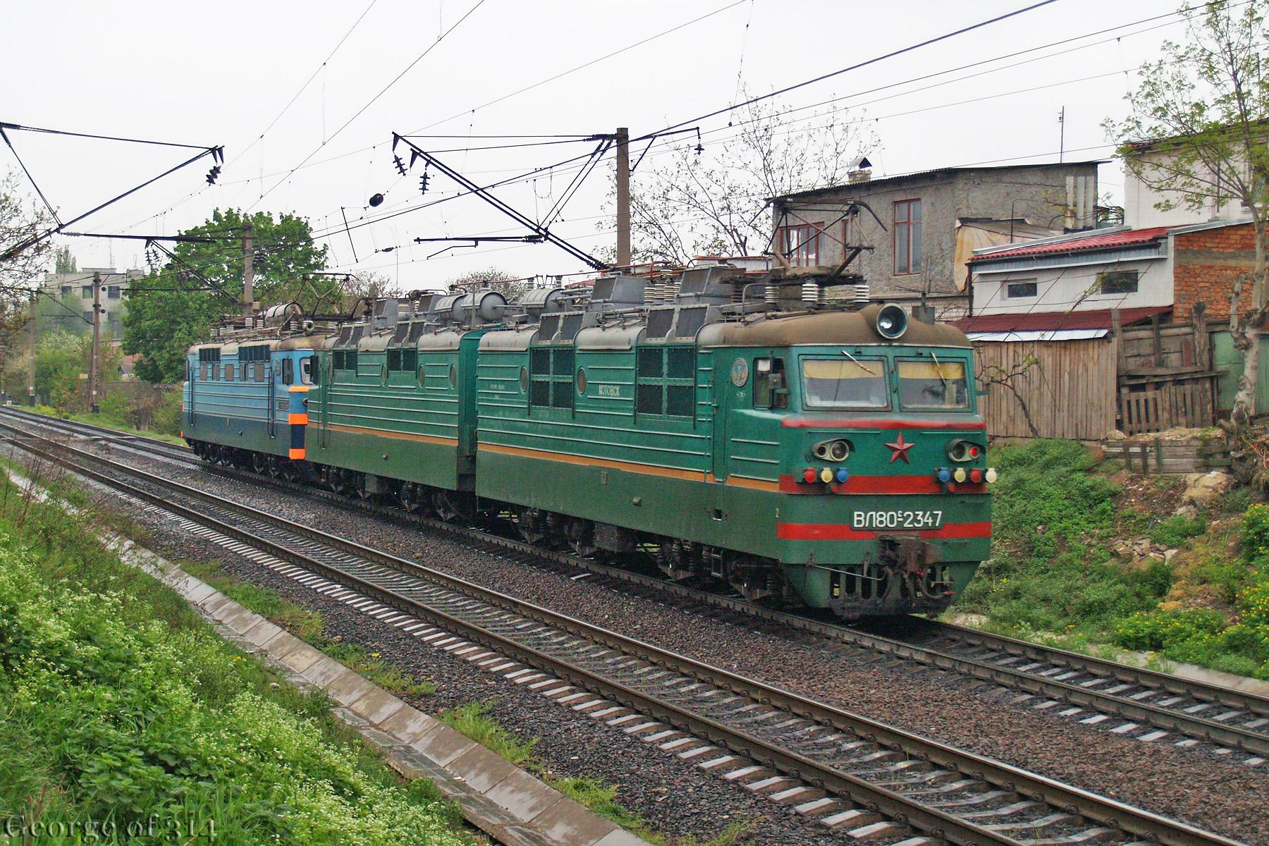 Електровози ВЛ80С-2347 та ВЛ60ПК-1951, перегін пост 1310 км - Одеса-Застава-ІІ