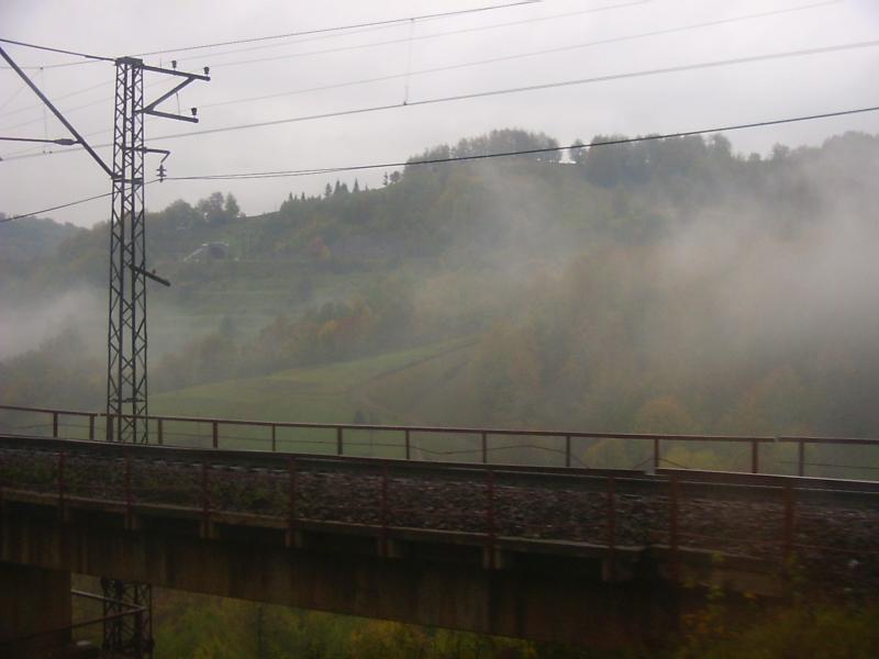 Віадук та тунель на перегоні Бескид-Скотарське біля с. Скотарське, Закарпатська обл.