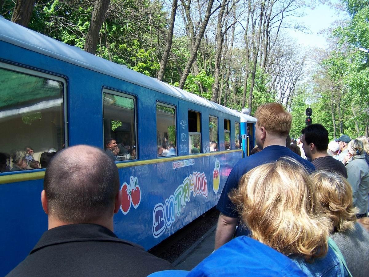 Поїзд на станції Яблунька