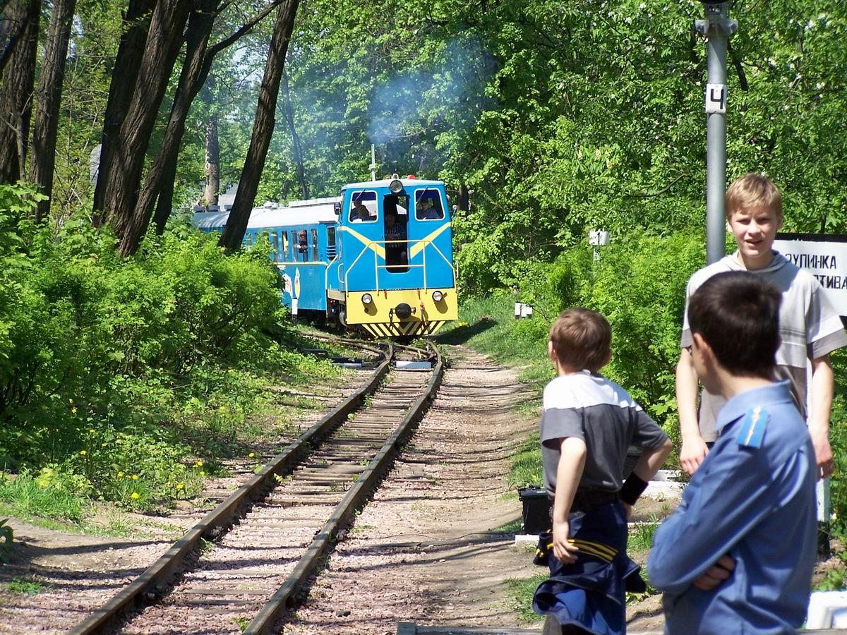 Поїзд прибуває на ст. Яблунька