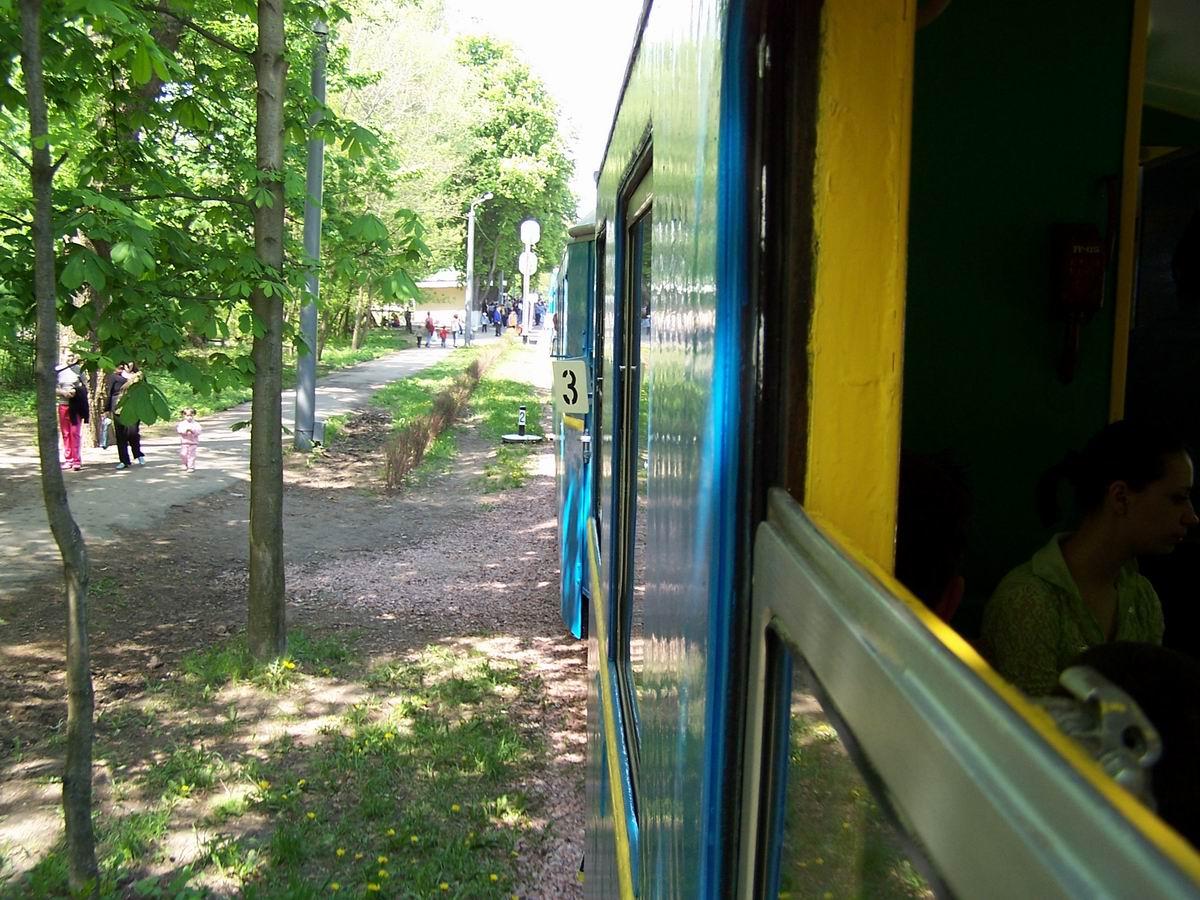 Поїзд на підході до ст. Вишенька