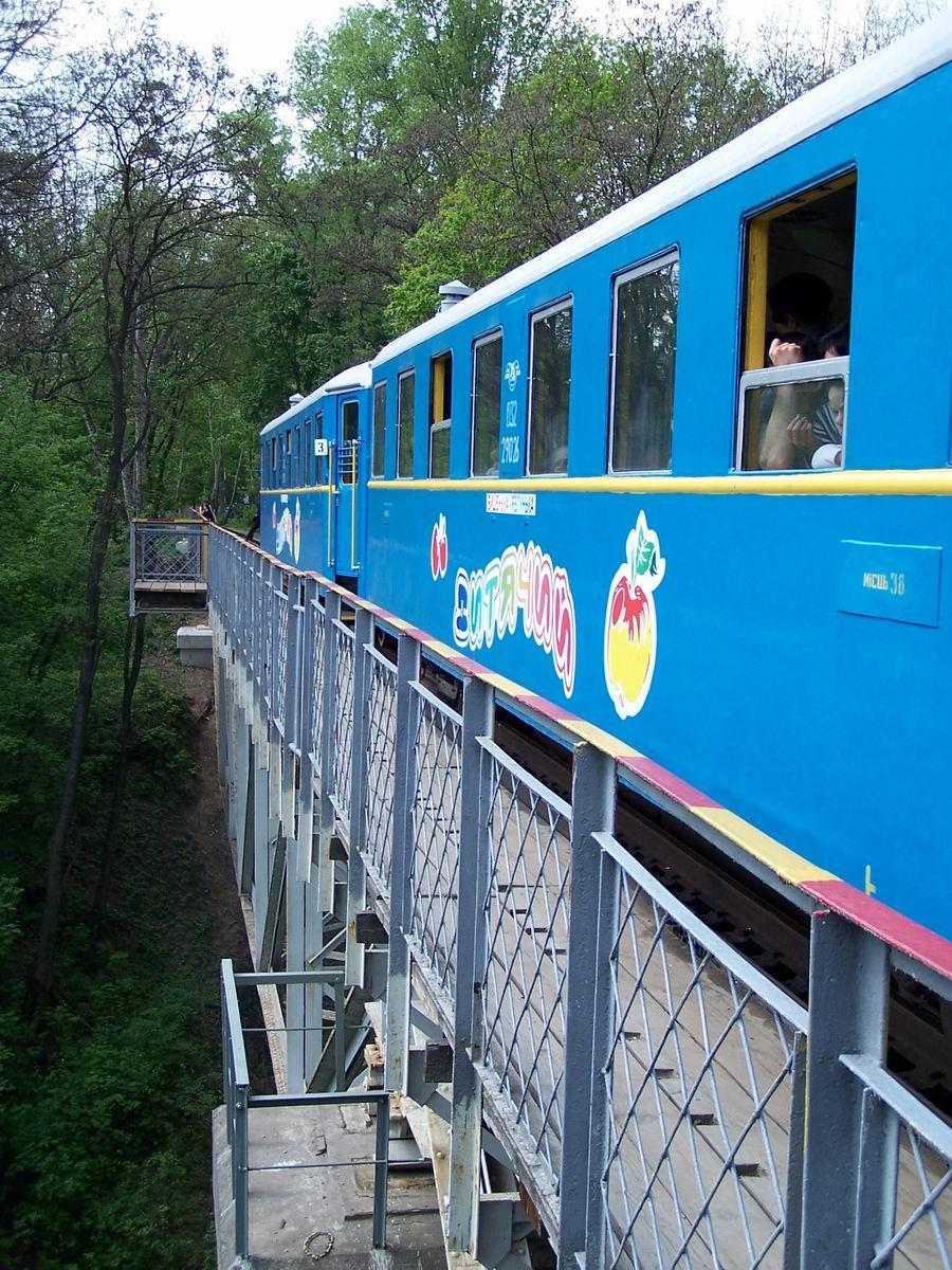 Поїзд на мості