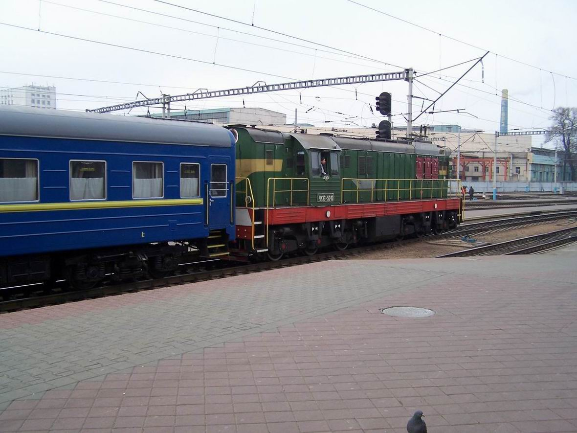Тепловоз ЧМЕ3-5343, ст. Київ-Пасс.