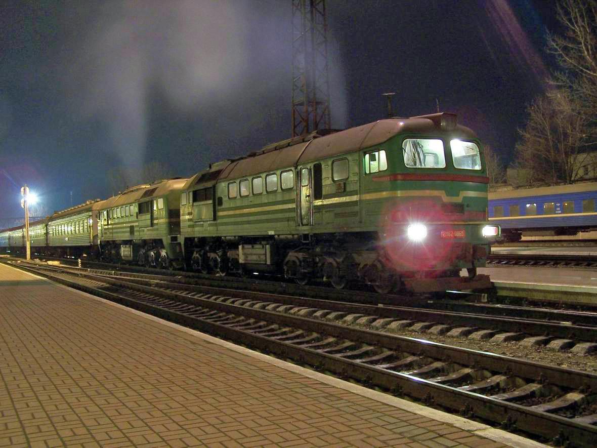 Тепловоз 2М62-0865, ст. Івано-Франківськ