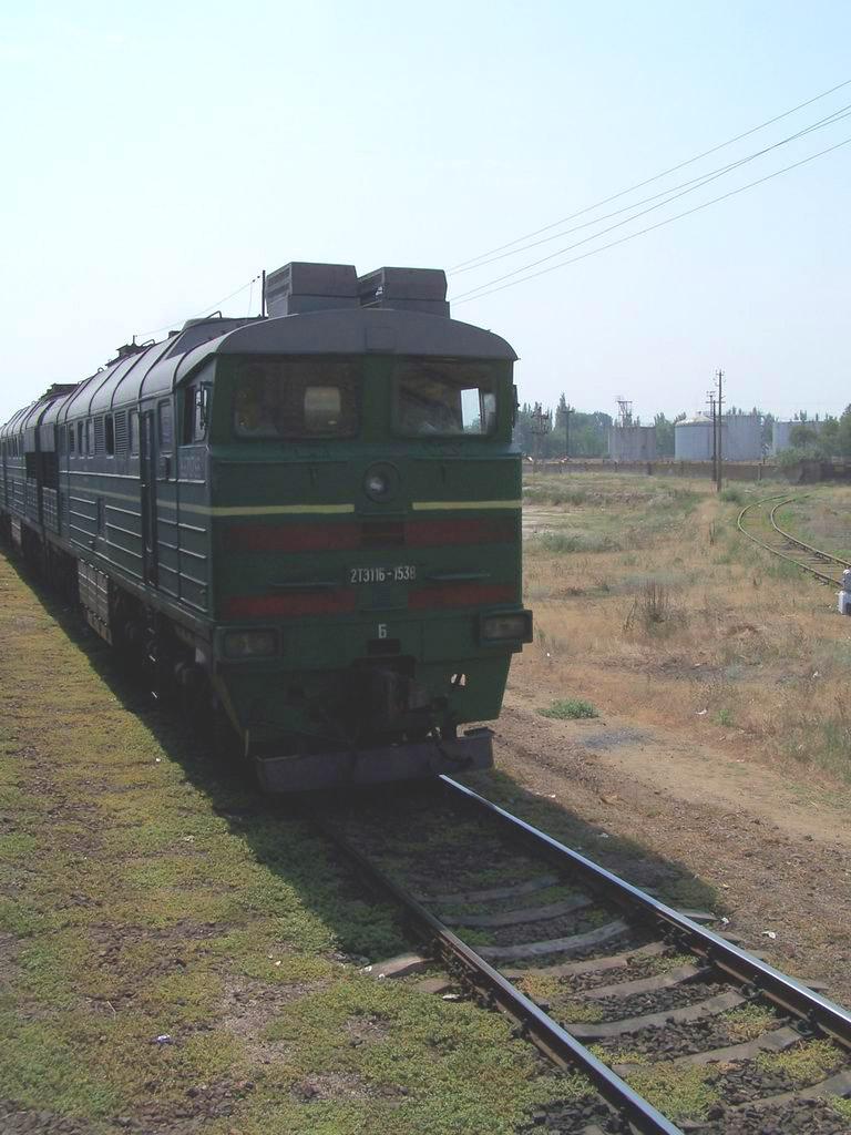 2ТЕ116-1538 на ст. Новокиївка, АР Крим
