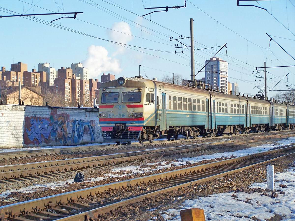 Електропоїзд ЕР9М-396, перегон Київ-Московський - Київ-Товарний