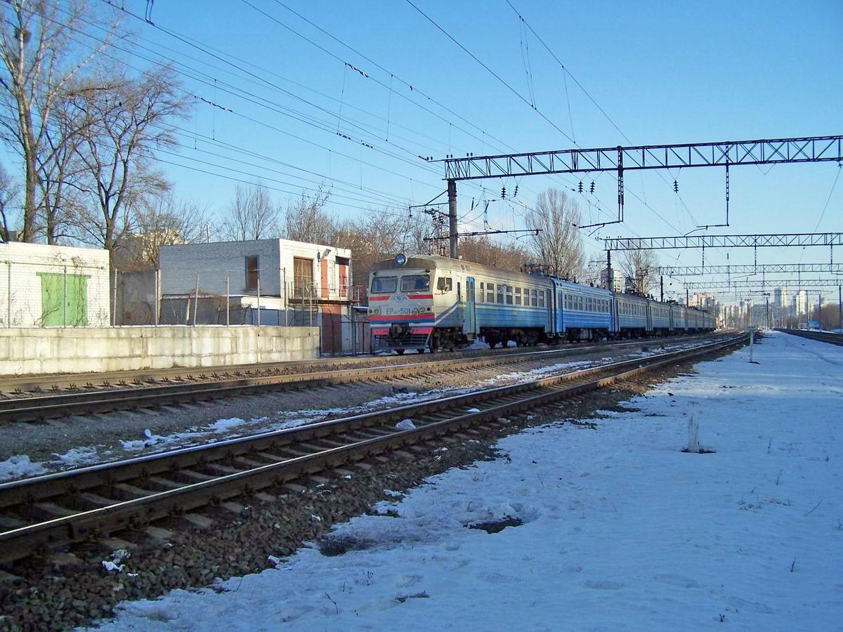 Електропоїзд ЕР9М-501, перегон Київ-Московський - Київ-Товарний