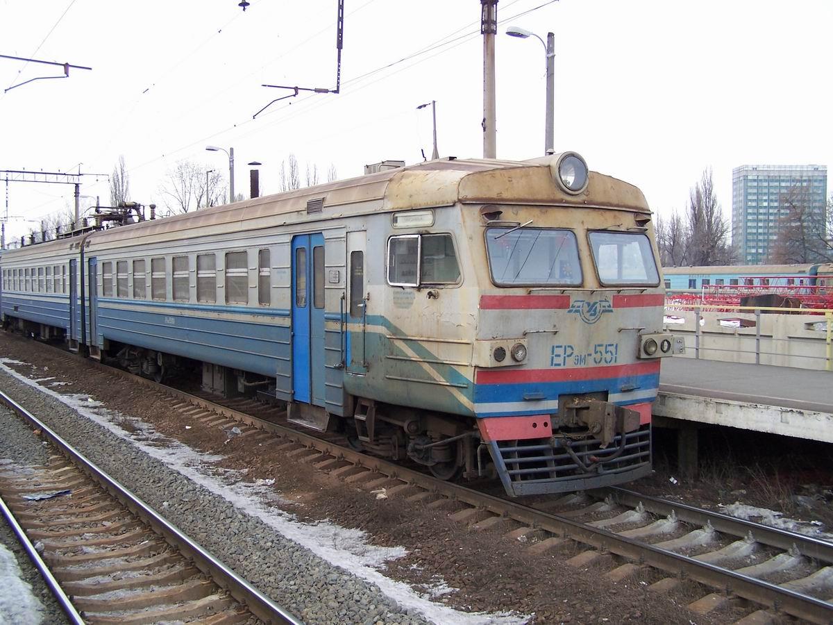Електропоїзд ЕР9М-551, з.п. Протасів Яр, Київ