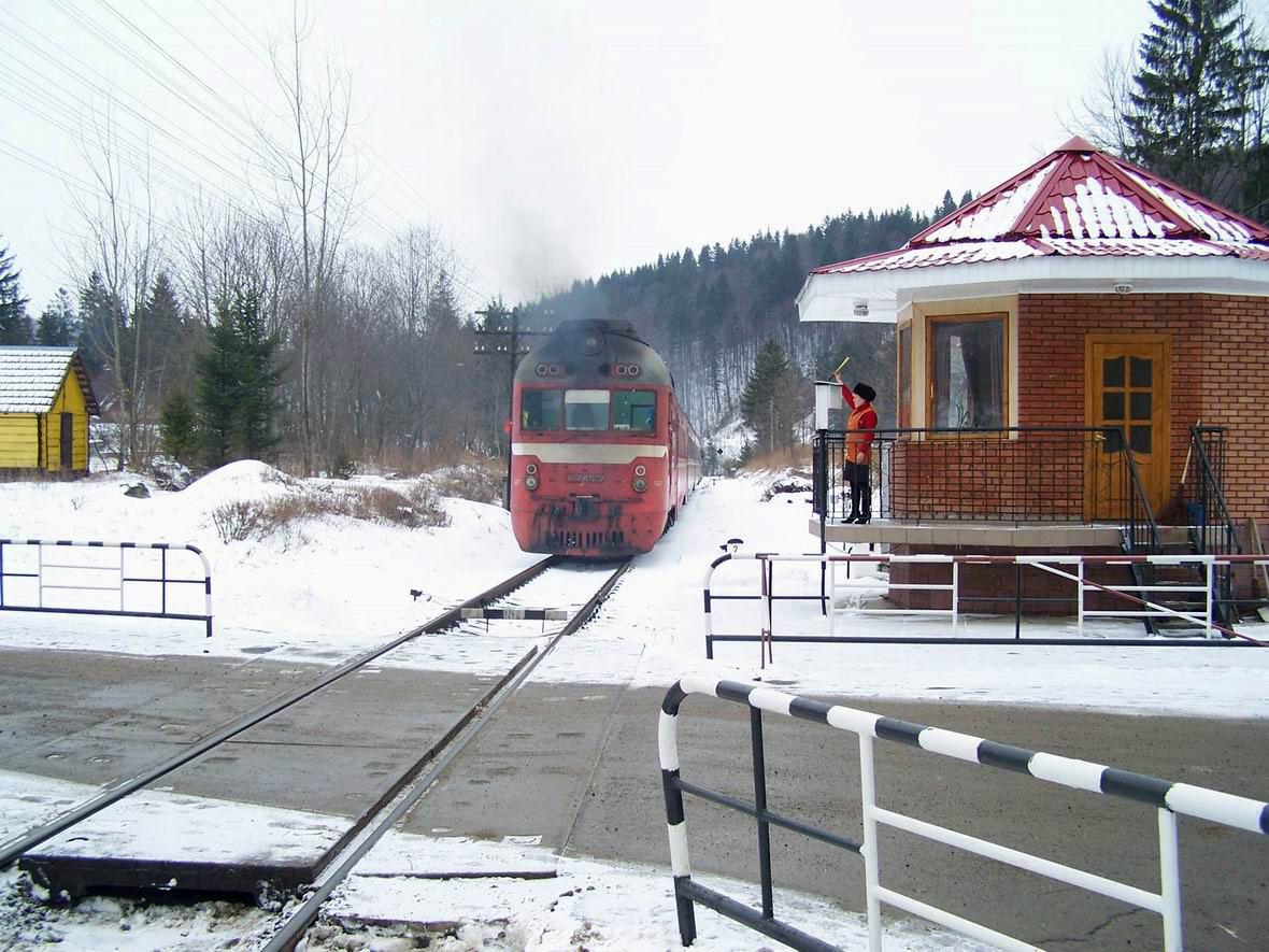 Дизель-поїзд Д1-745, перегон Яремча-Микуличин, м. Яремче