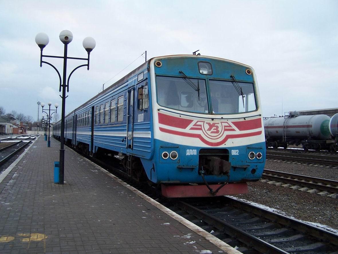 Дизель-поїзд ДПЛ1-002, ст. Коломия