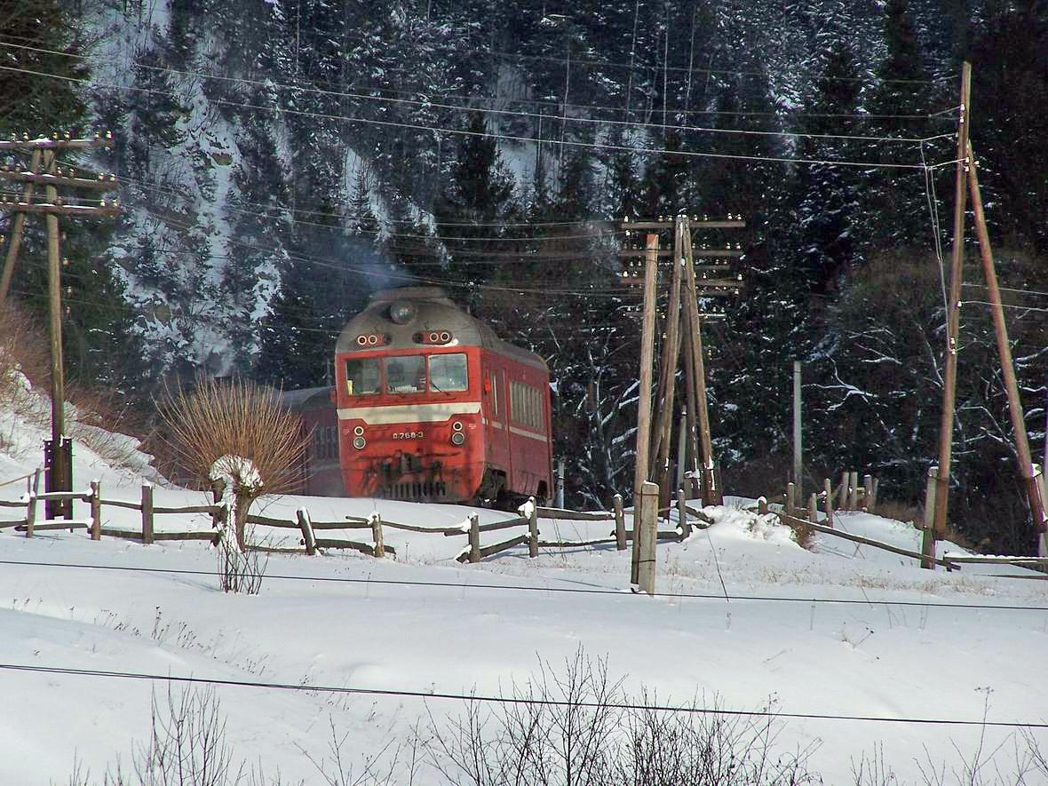 Дизель-поїзд Д1-768, околиці Ворохти
