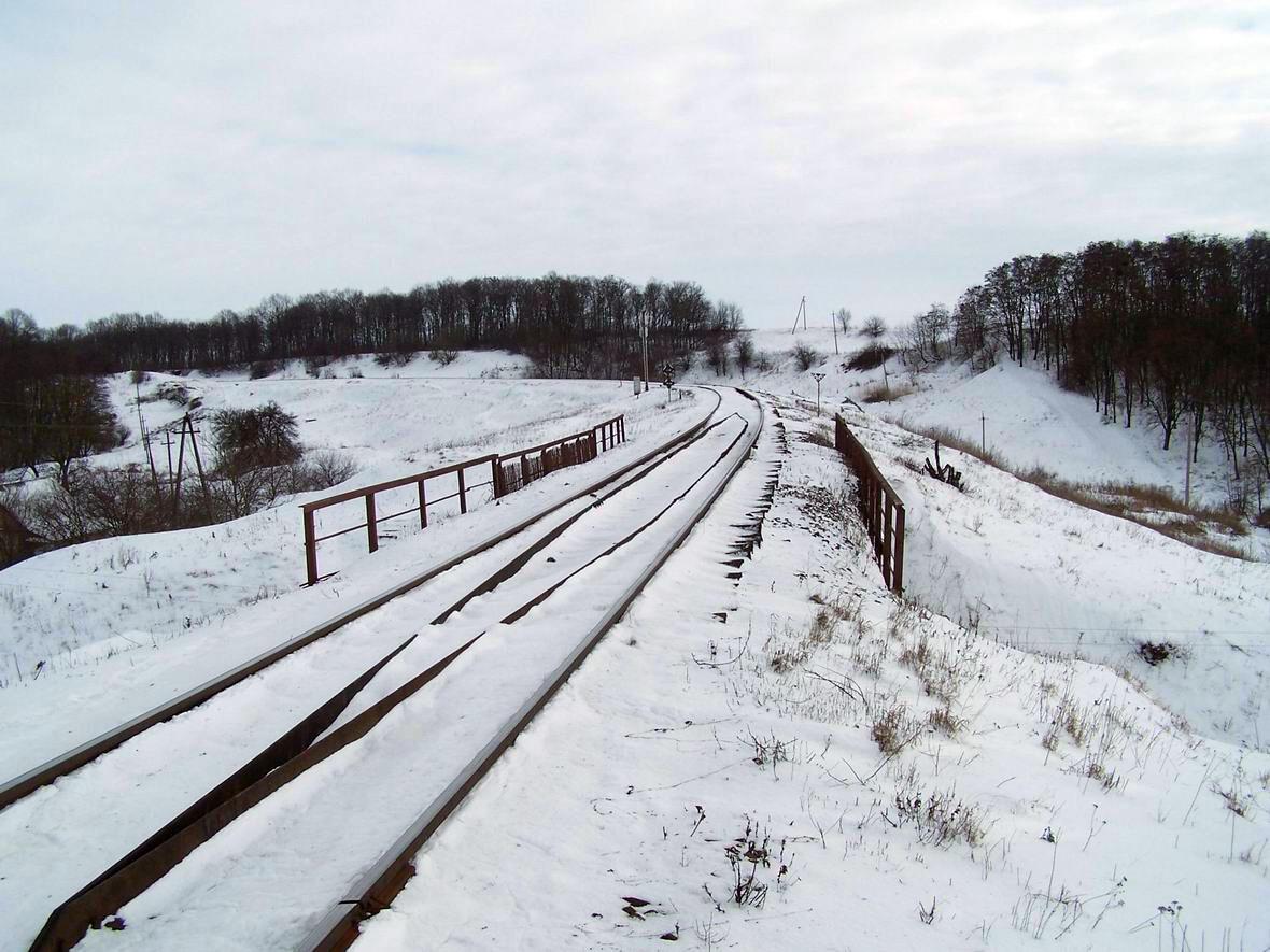 Перегон Красилів - Воронківці, околиці ст. Красилів, Хмельницька обл.