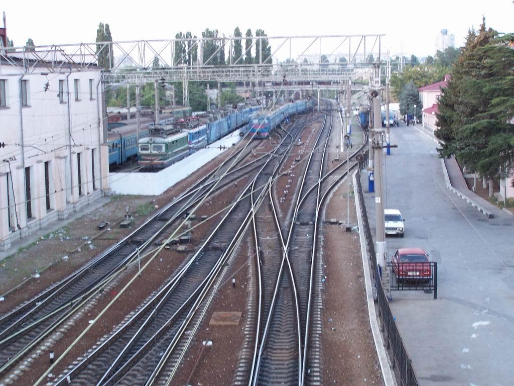 Північна горловина станції Симферопіль, АР Крим