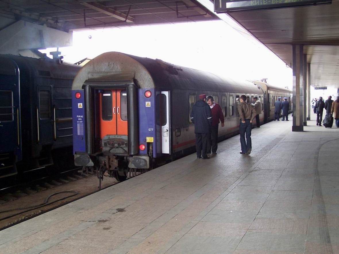 Вагон польських залізниць у складі поїзда