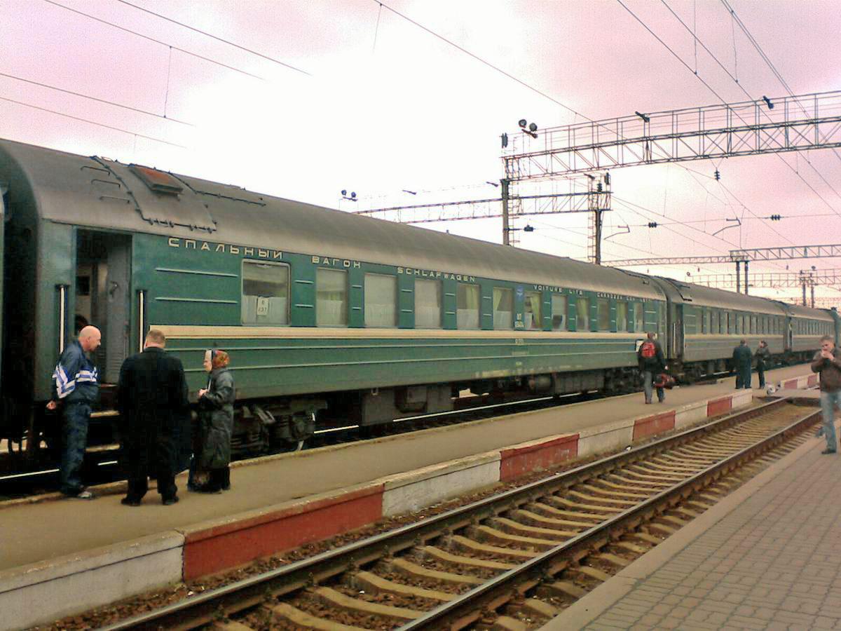 Спальний вагон РІЦ Москва-Загреб в складі поїзда