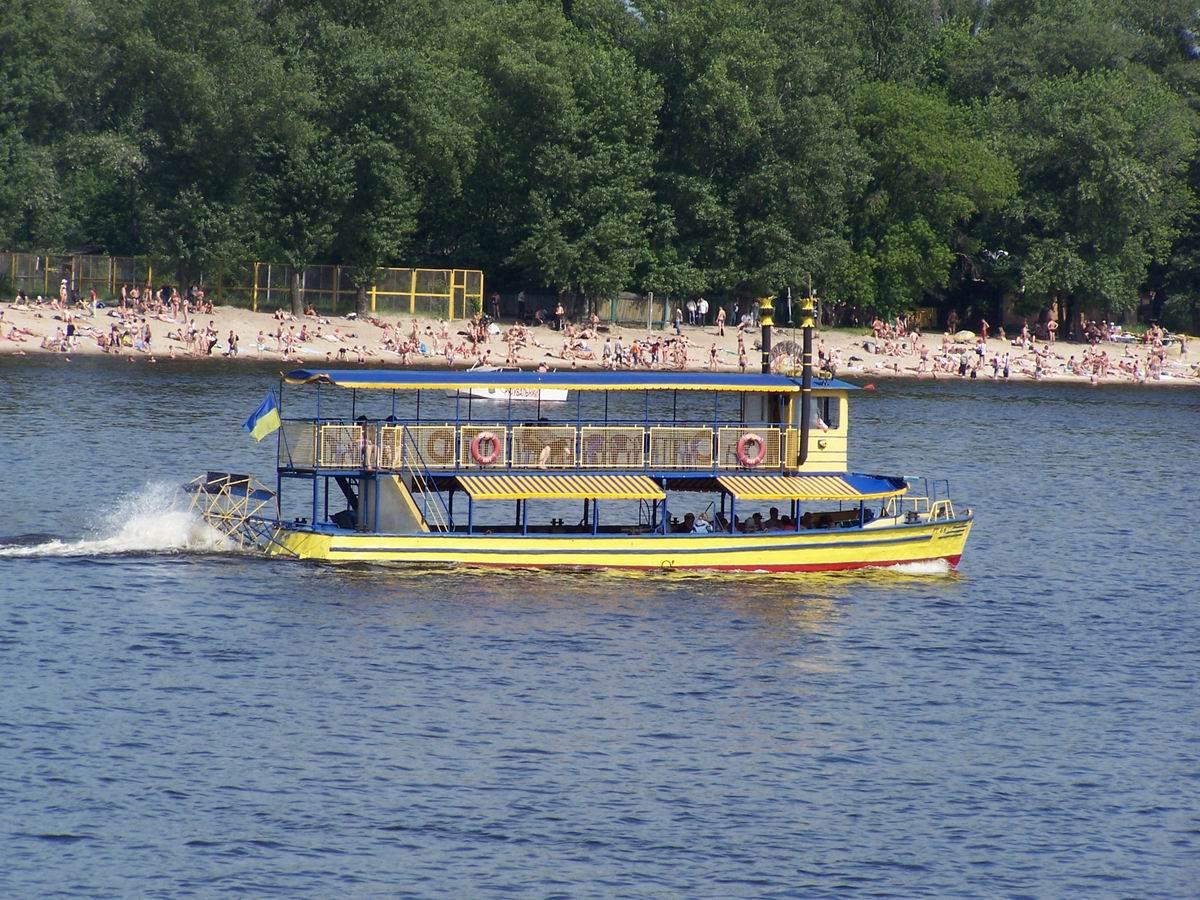 Корабель на Дніпрі