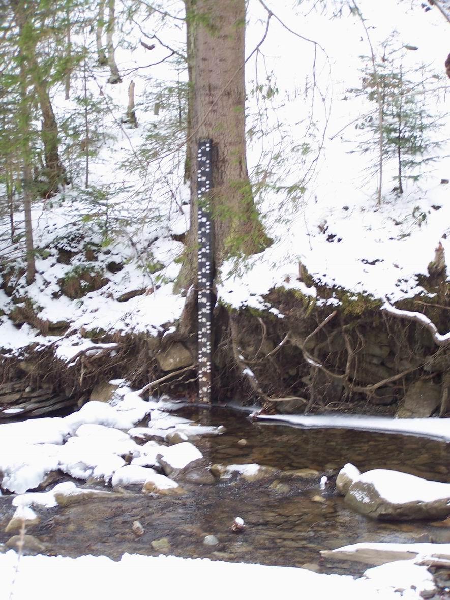 Прилад для контролю рівня води на р. Жонка, м. Яремче