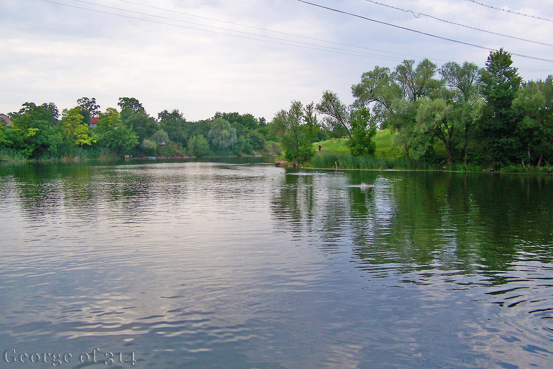 Річка Рось у смт Стеблів, Черкаська область