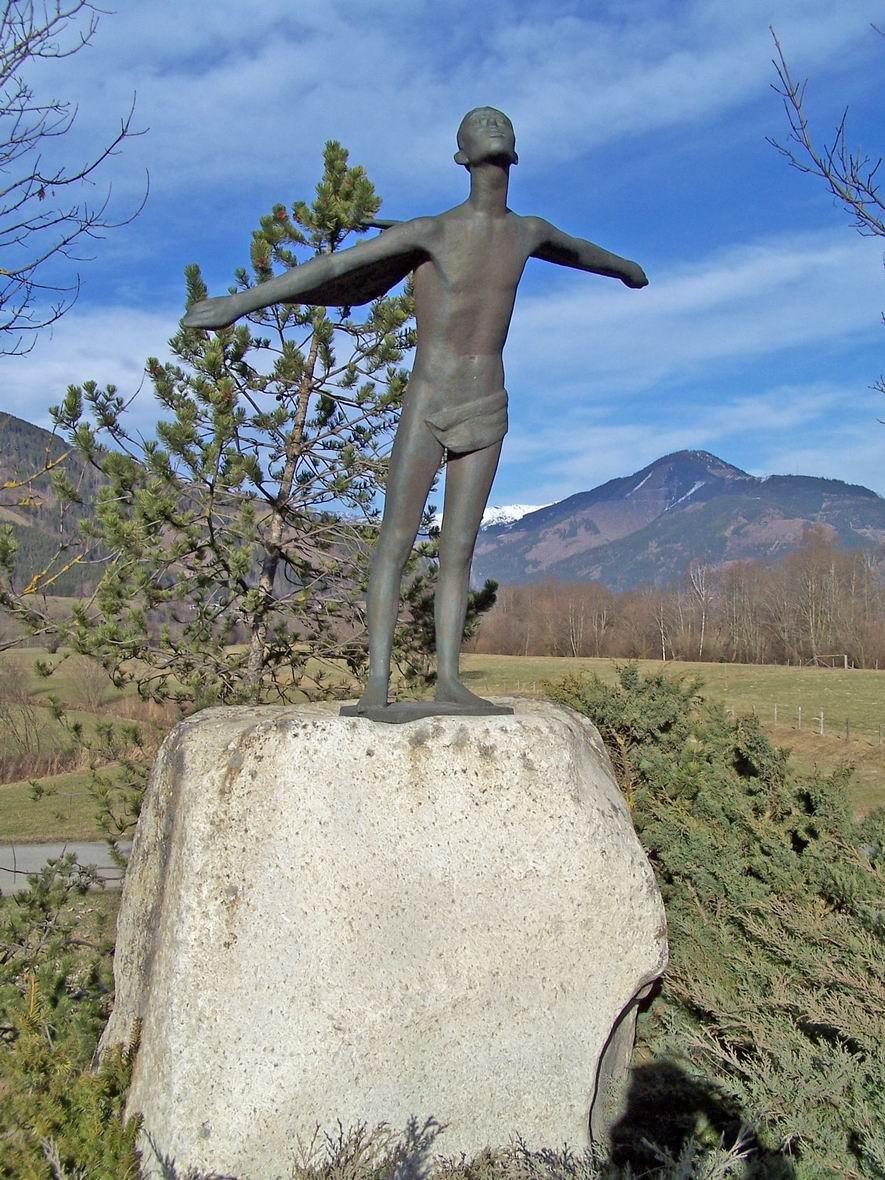 Пам'ятник Ікару, околиці м. Капрун, Австрія