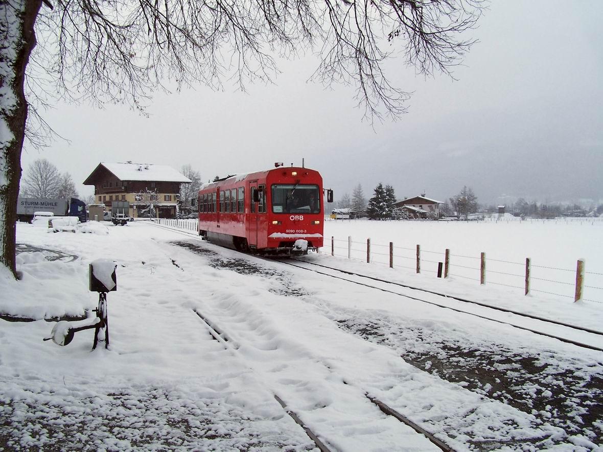 Рейковий автобус 5090-008-3, ст. Фюрт-Капрун вузькоколійної дороги Пінцгау, Австрія