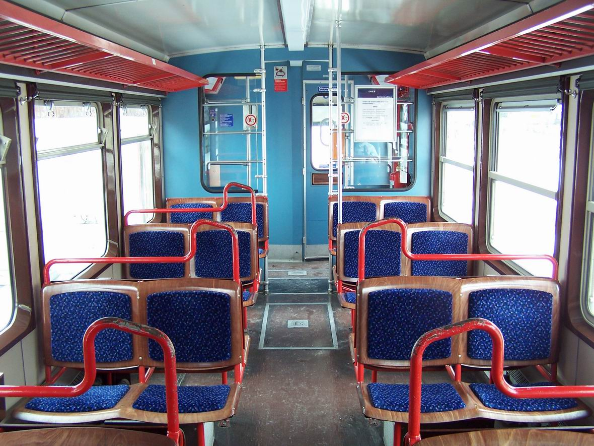 Салон рейкового автобуса 5090.001-8, вузькоколійна дорога Пінцгау, Австрія